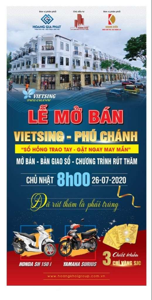 Banner Ưu đãi cực khủng lể mở bán Khu Nhà Ở VietSing Phú Chánh - Hoàng Khôi Group