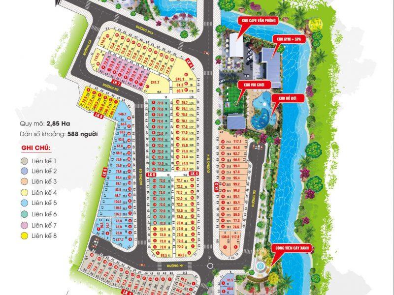 Bản đồ quy hoạch dự án ĐKB
