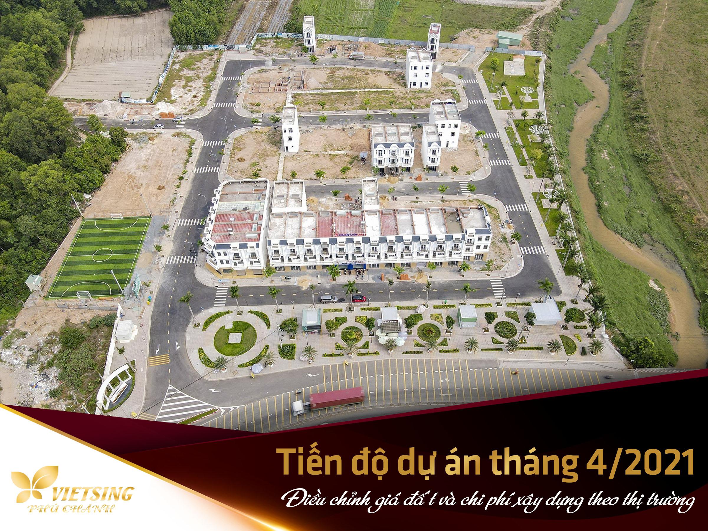 Điều chỉnh giá đất và chi phí xây dựng theo giá thị trường - VietSing Phú Chánh