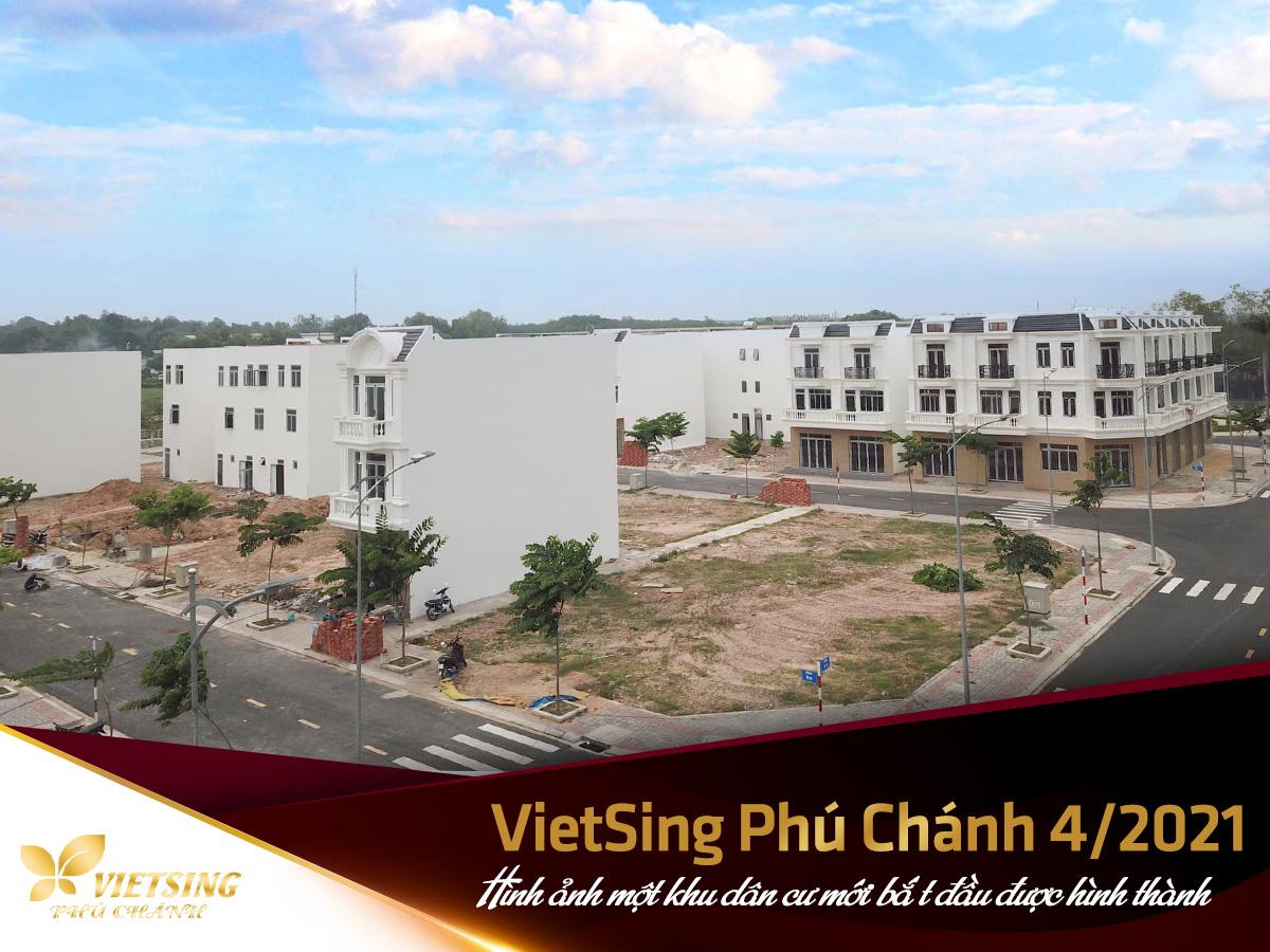 Hình ảnh một khu dân cư mới bắ t đầu được hình thành - VietSing Phú Chánh