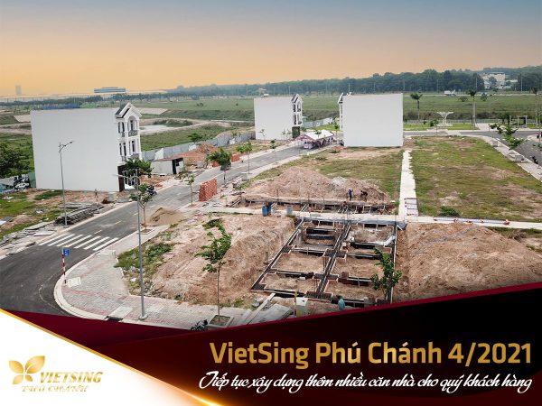 Tiếp tục xây dựng thêm nhiều căn nhà cho quý khách hàng tại VietSing Phú Chánh
