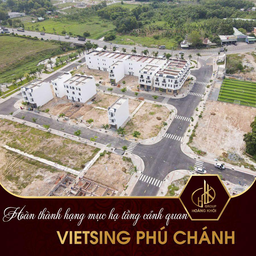 Hoàn thành các hạng mục hạ tầng cảnh quan tại VietSing Phú Chánh