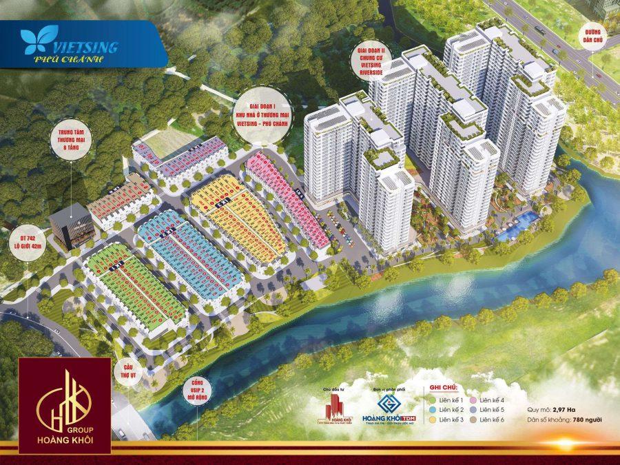 Phối cảnh dự án Khu nhà ở thương mại VietSing Phú Chánh – Hoàng Khôi Group