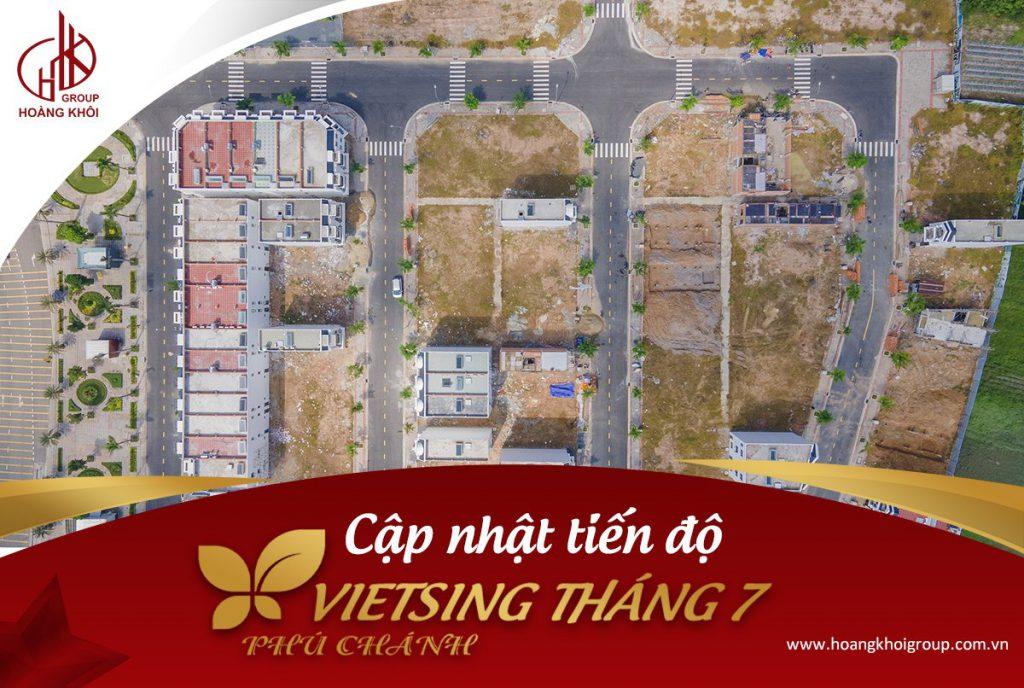 Tiến độ dự án Khu nhà ở VietSing Phú Chánh tháng 7 2021
